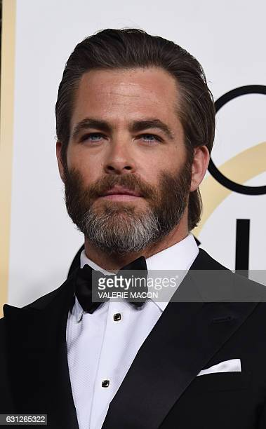 Actor Chris Pine arrives at the 74th annual Golden Globe Awards January 8 at the Beverly Hilton Hotel in Beverly Hills California / AFP / VALERIE...