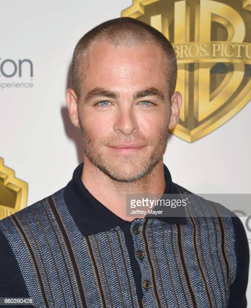 Actor Chris Pine arrives at the CinemaCon 2017 Warner Bros Pictures presentation of their upcoming slate of films at The Colosseum at Caesars Palace...