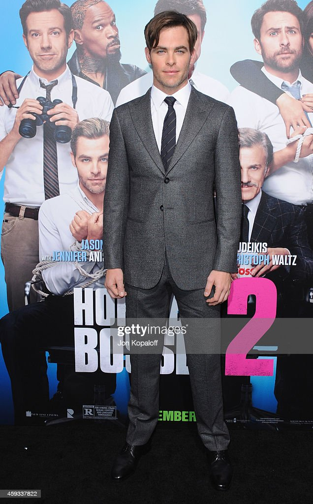 Actor <a gi-track='captionPersonalityLinkClicked' href=/galleries/search?phrase=Chris+Pine&family=editorial&specificpeople=641995 ng-click='$event.stopPropagation()'>Chris Pine</a> arrives at the Los Angeles Premiere 'Horrible Bosses 2' at TCL Chinese Theatre on November 20, 2014 in Hollywood, California.
