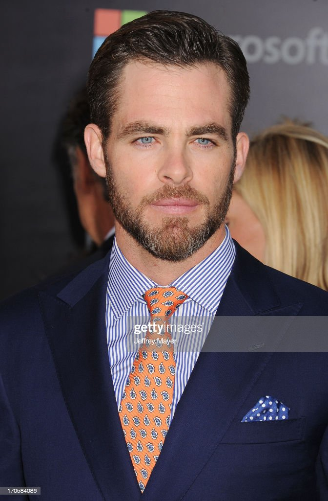 Actor <a gi-track='captionPersonalityLinkClicked' href=/galleries/search?phrase=Chris+Pine&family=editorial&specificpeople=641995 ng-click='$event.stopPropagation()'>Chris Pine</a> arrives at the Los Angeles premiere of 'Star Trek: Into Darkness' at Dolby Theatre on May 14, 2013 in Hollywood, California.