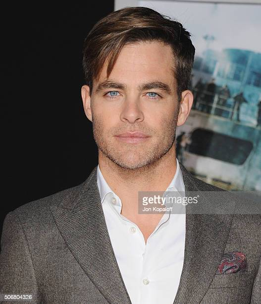 Actor Chris Pine arrives at the Los Angeles Premiere 'The Finest Hours' at TCL Chinese Theatre on January 25 2016 in Hollywood California