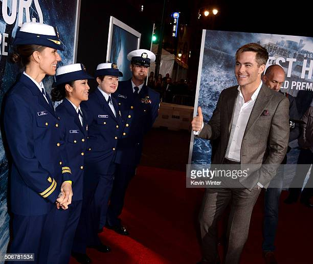 Actor Chris Pine arrives at the premiere of Disney's 'The Finest Hours' at the TCL Chinese Theatre on January 25 2016 in Los Angeles California