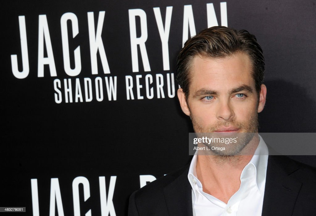 Actor <a gi-track='captionPersonalityLinkClicked' href=/galleries/search?phrase=Chris+Pine&family=editorial&specificpeople=641995 ng-click='$event.stopPropagation()'>Chris Pine</a> arrives at the Premiere Of Paramount Pictures' 'Jack Ryan: Shadow Recruit' held at TCL Chinese Theatre on January 15, 2014 in Hollywood, California.