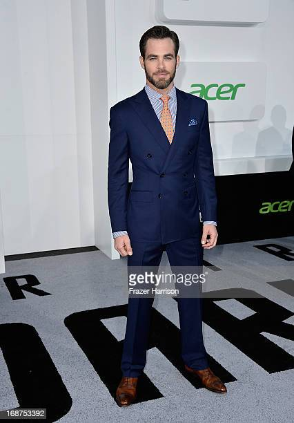 Actor Chris Pine arrives at the premiere of Paramount Pictures' 'Star Trek Into Darkness' at Dolby Theatre on May 14 2013 in Hollywood California