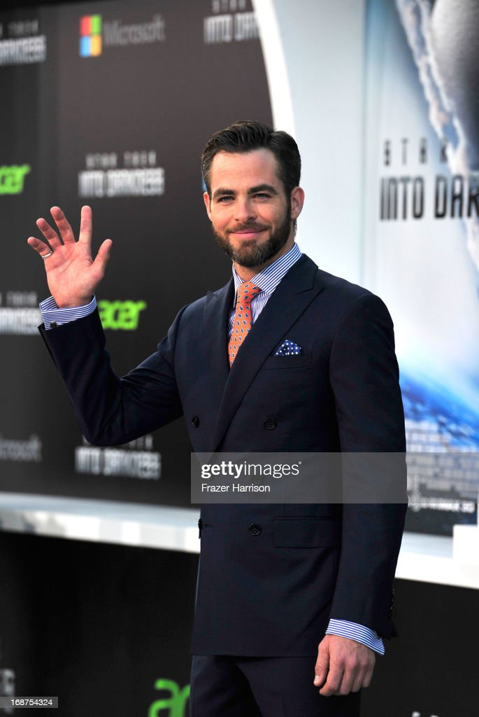 Actor Chris Pine arrives at the premiere of Paramount Pictures' 'Star Trek Into Darkness' at the Dolby Theatre on May 14, 2013 in Hollywood, California.