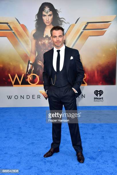 Actor Chris Pine arrives at the Premiere Of Warner Bros Pictures' 'Wonder Woman' at the Pantages Theatre on May 25 2017 in Hollywood California