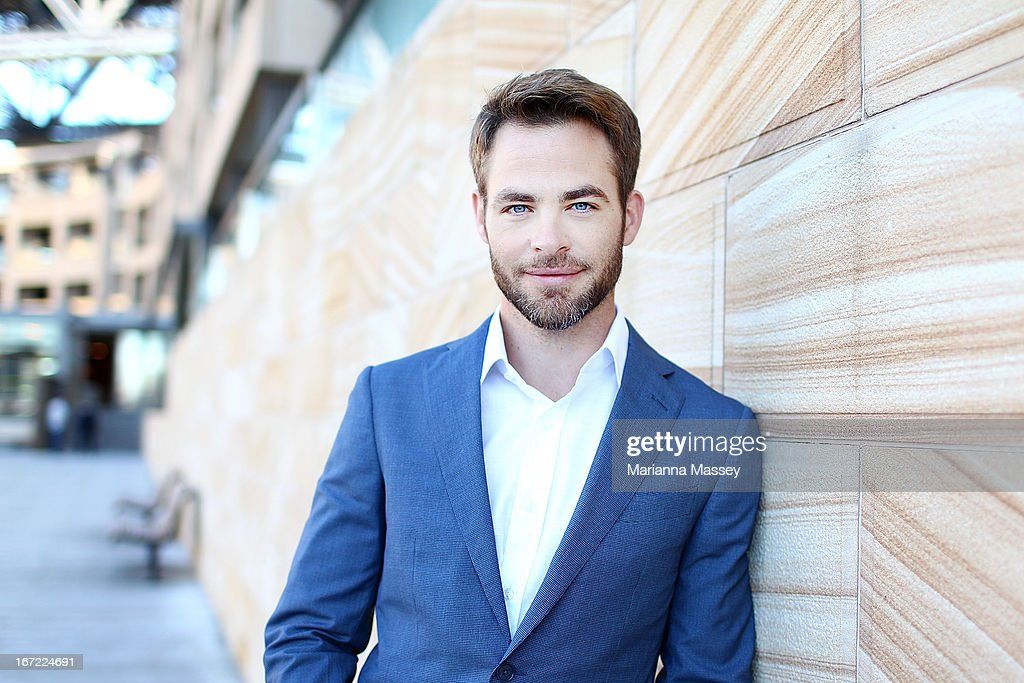 Actor <a gi-track='captionPersonalityLinkClicked' href=/galleries/search?phrase=Chris+Pine&family=editorial&specificpeople=641995 ng-click='$event.stopPropagation()'>Chris Pine</a> at the 'Star Trek Into Darkness' photo call on April 23, 2013 in Sydney, Australia.
