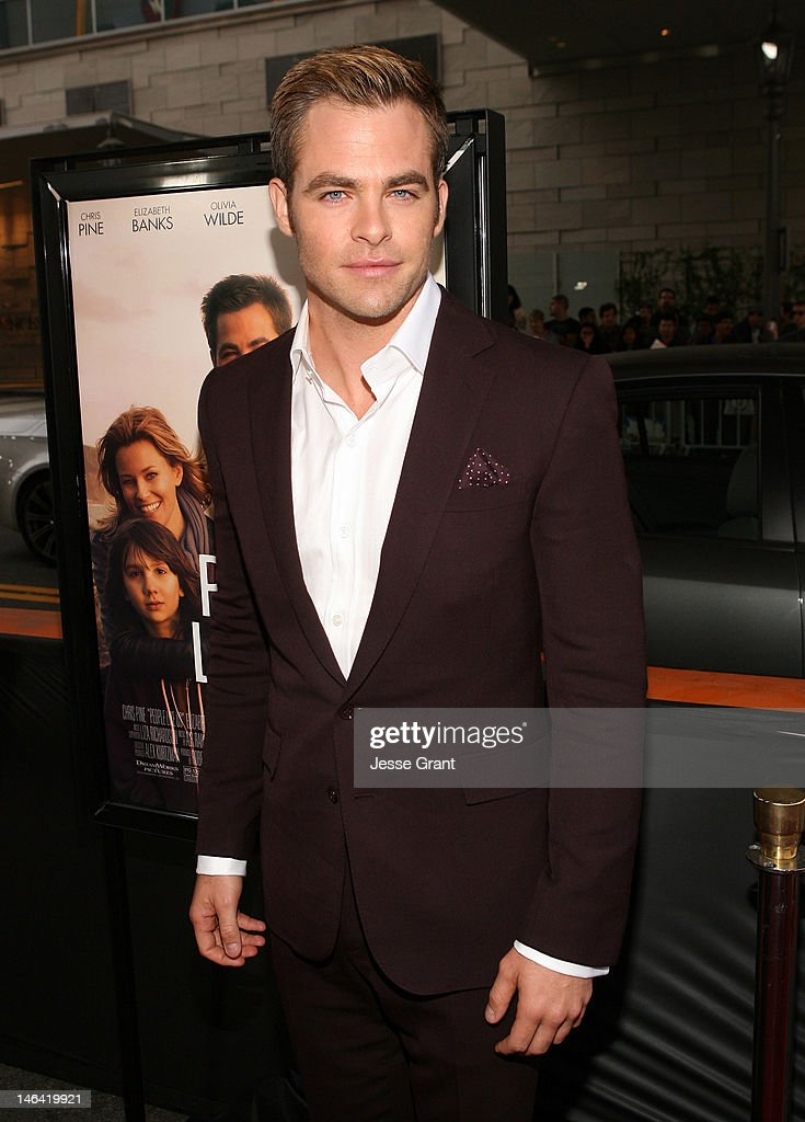 Actor <a gi-track='captionPersonalityLinkClicked' href=/galleries/search?phrase=Chris+Pine&family=editorial&specificpeople=641995 ng-click='$event.stopPropagation()'>Chris Pine</a> attends the 2012 Los Angeles Film Festival Premiere of 'People Like Us' at Regal Cinemas L.A. LIVE Stadium 14 on June 15, 2012 in Los Angeles, California.
