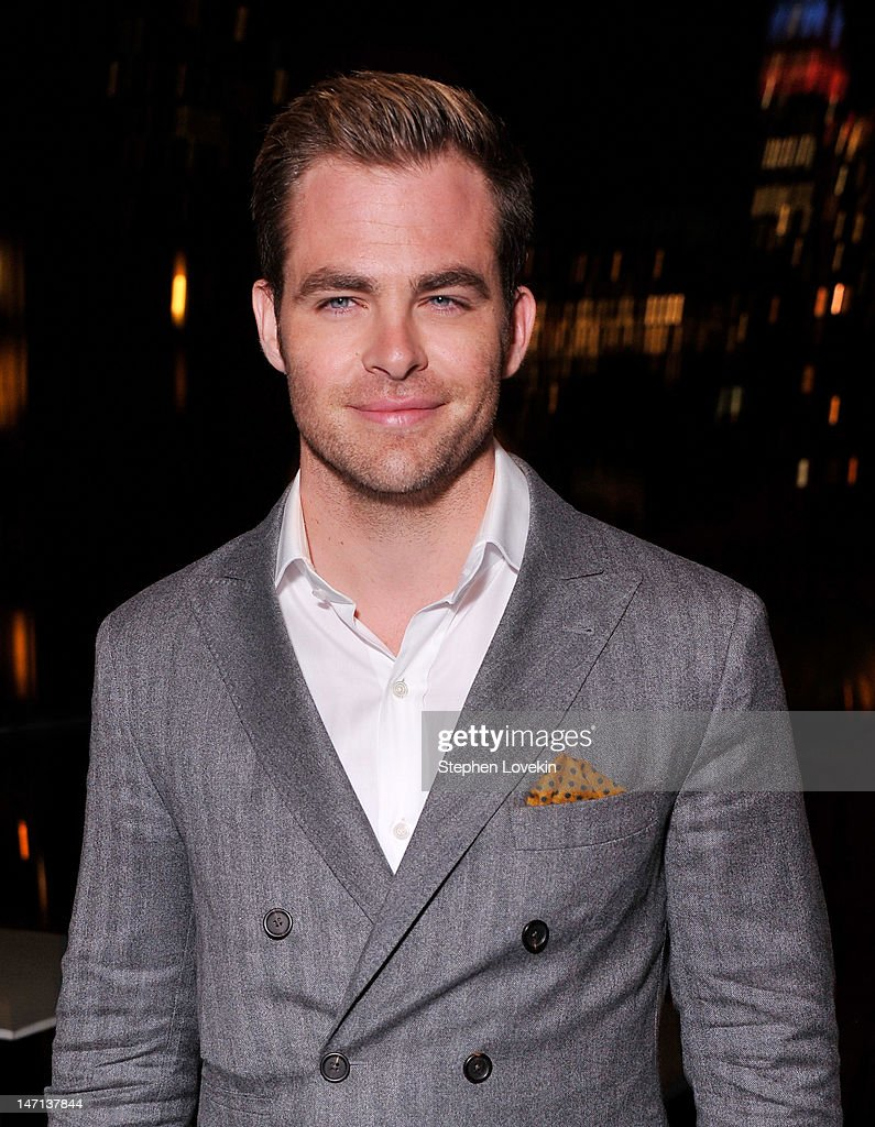 Actor <a gi-track='captionPersonalityLinkClicked' href=/galleries/search?phrase=Chris+Pine&family=editorial&specificpeople=641995 ng-click='$event.stopPropagation()'>Chris Pine</a> attends the after party for the Cinema Society with Linda Wells & Allure screening of DreamWorks Studios' 'People Like Us' at Hotel Americano on June 25, 2012 in New York City.
