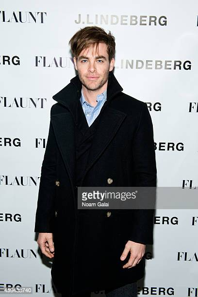 Actor Chris Pine attends the Celebration of Chris Pine's cover of Flaunt Magazine at Beautique on November 22 2014 in New York City