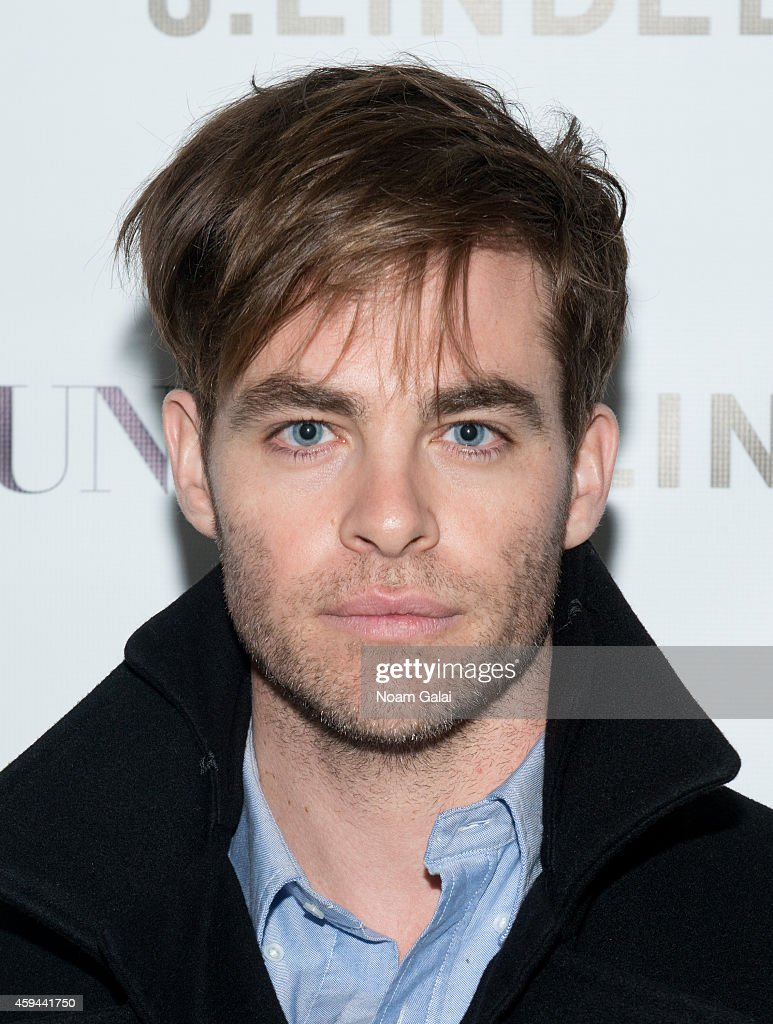 Actor <a gi-track='captionPersonalityLinkClicked' href=/galleries/search?phrase=Chris+Pine&family=editorial&specificpeople=641995 ng-click='$event.stopPropagation()'>Chris Pine</a> attends the Celebration of <a gi-track='captionPersonalityLinkClicked' href=/galleries/search?phrase=Chris+Pine&family=editorial&specificpeople=641995 ng-click='$event.stopPropagation()'>Chris Pine</a>'s cover of Flaunt Magazine at Beautique on November 22, 2014 in New York City.