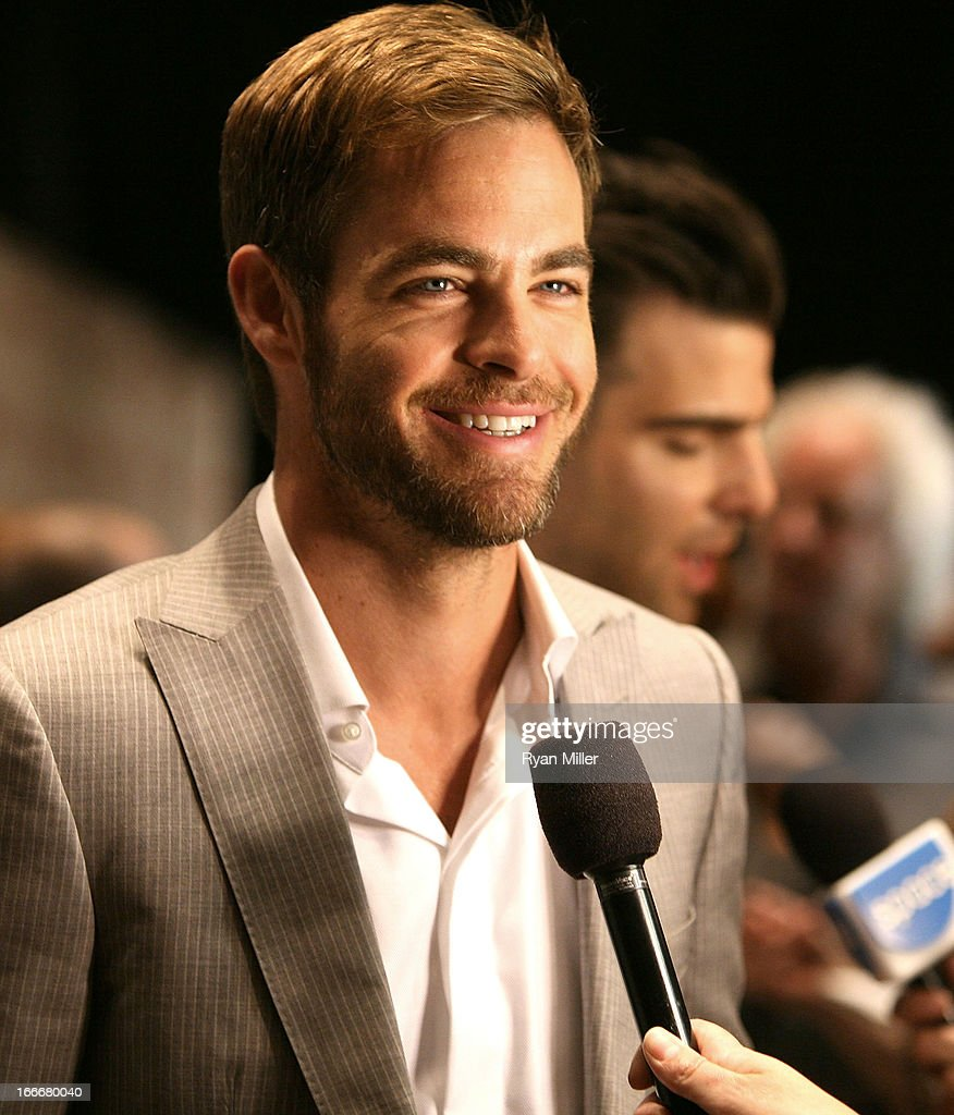 Actor Chris Pine attends the CinemaCon 2013 Off and Running: Gala Opening Night Presentation by Paramount Pictures at Caesars Palace during CinemaCon, the official convention of the National Association of Theatre Owners, on April 15, 2013 in Las Vegas, Nevada.