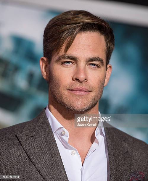 Actor Chris Pine attends the premiere of Disney's 'The Finest Hours' at TCL Chinese Theatre on January 25 2016 in Hollywood California
