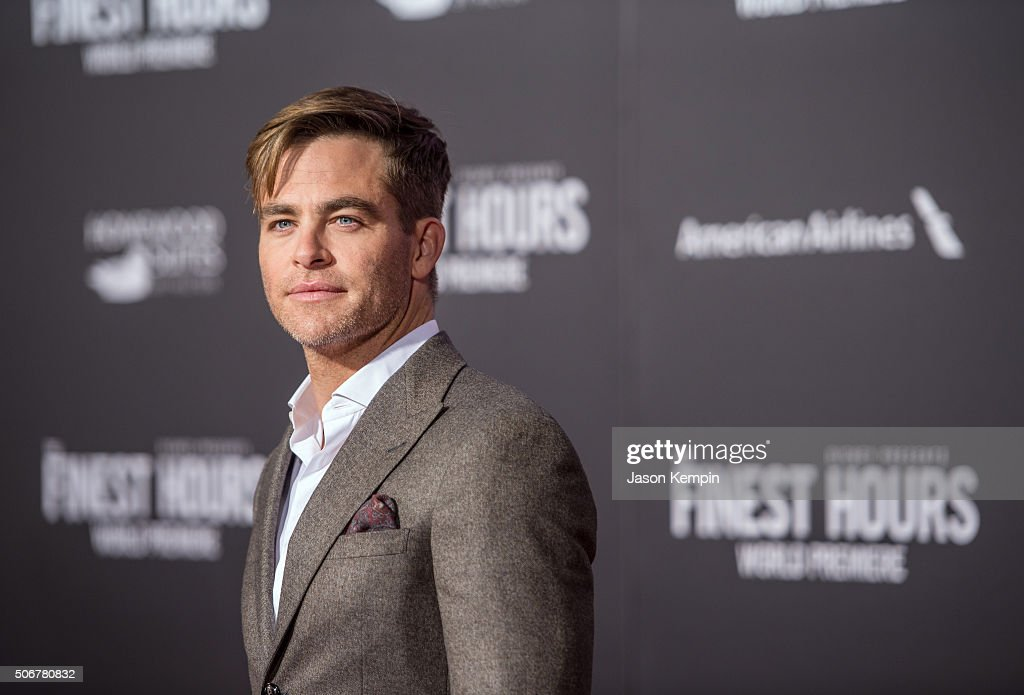 Actor Chris Pine attends the premiere of Disney's 'The Finest Hours' at TCL Chinese Theatre on January 25, 2016 in Hollywood, California.