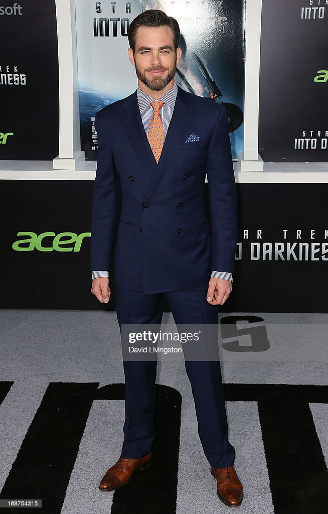 Actor Chris Pine attends the premiere of Paramount Pictures' 'Star Trek Into Darkness' at the Dolby Theatre on May 14, 2013 in Hollywood, California.