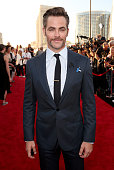 Actor Chris Pine attends the premiere of Paramount Pictures' 'Star Trek Beyond' at Embarcadero Marina Park South on July 20 2016 in San Diego...