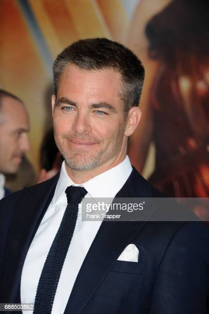 Actor Chris Pine attends the premiere of Warner Bros Pictures ''Wonder Woman' at the Pantages Theatre on May 25 2017 in Hollywood California