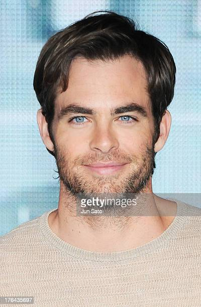 Actor Chris Pine attends the 'Star Trek Into Darkness' press conference at Nicofarre on August 13 2013 in Tokyo Japan