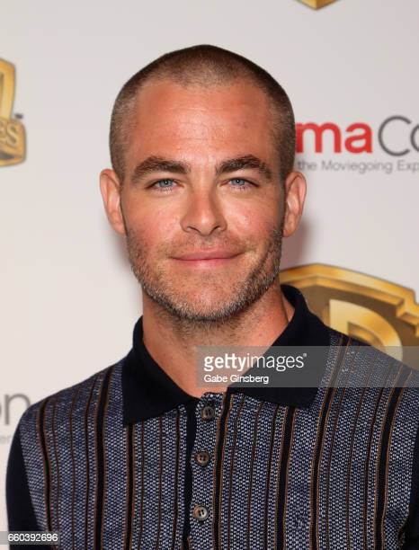 Actor Chris Pine attends the Warner Bros Pictures presentation during CinemaCon at The Colosseum at Caesars Palace on March 29 2017 in Las Vegas...