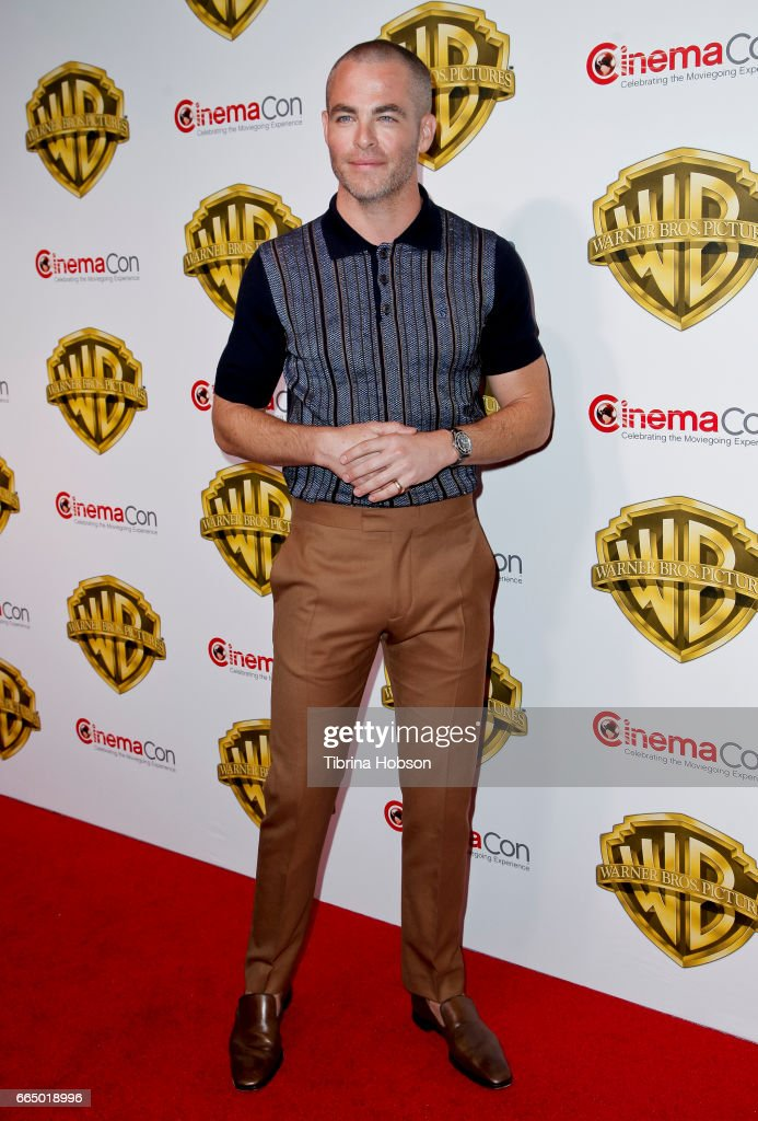 Actor Chris Pine attends the Warner Bros. Pictures presentation during CinemaCon at The Colosseum at Caesars Palace on March 29, 2017 in Las Vegas, Nevada.