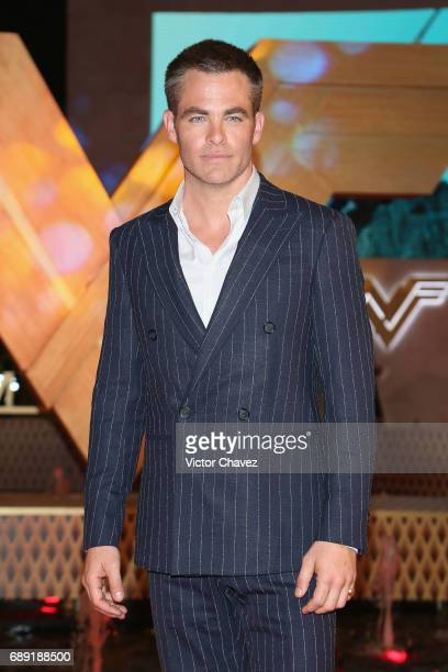 Actor Chris Pine attends the 'Wonder Woman' Mexico City premiere at Parque Toreo on May 27 2017 in Mexico City Mexico