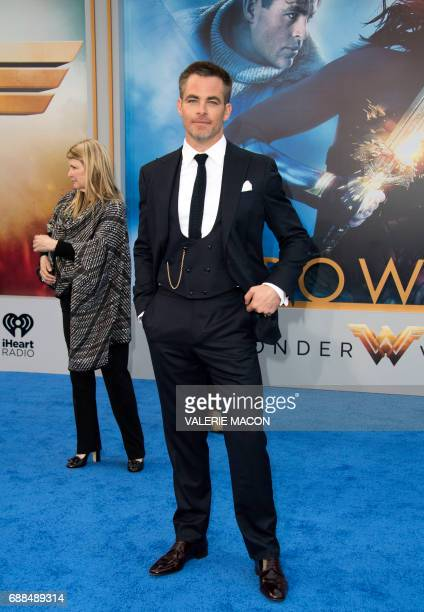 Actor Chris Pine attends the world premiere of 'Wonder Woman' at the Pantages on May 25 2017 in Hollywood California / AFP PHOTO / VALERIE MACON