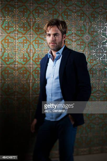 Actor Chris Pine is photographed for Los Angeles Times on January 10 2014 in Beverly Hills California PUBLISHED IMAGE CREDIT MUST READ Jay L...