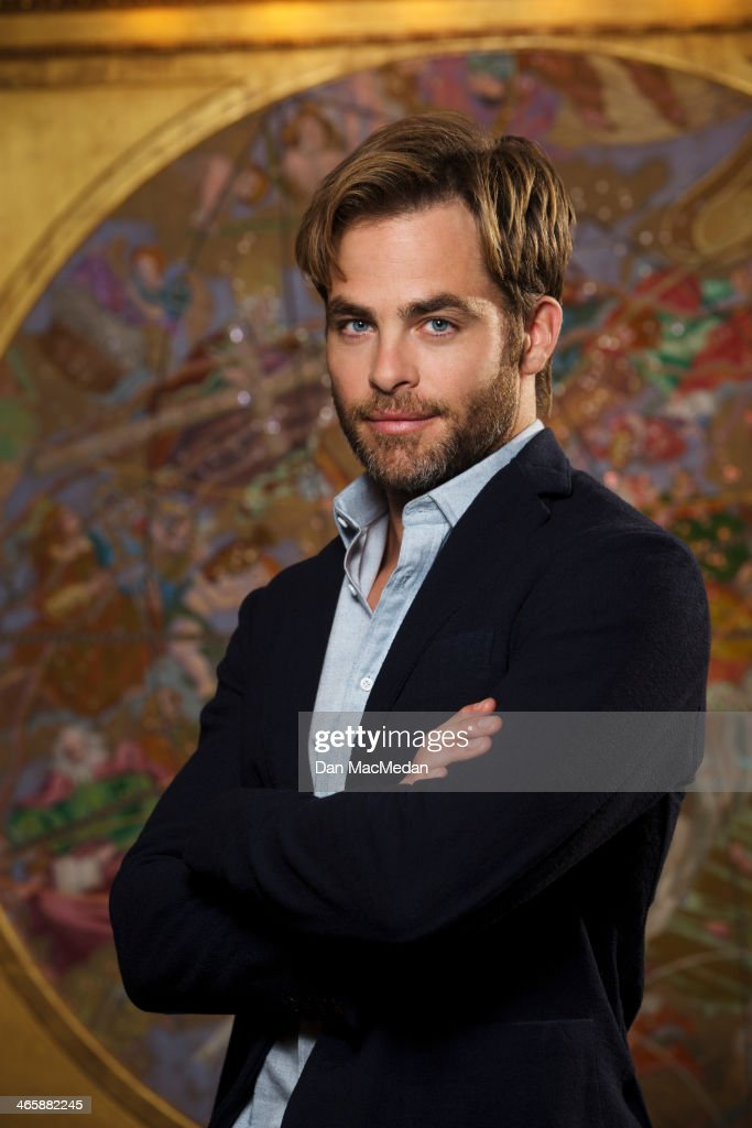 Actor Chris Pine is photographed for USA Today on January 10, 2014 in Beverly Hills, California. PUBLISHED