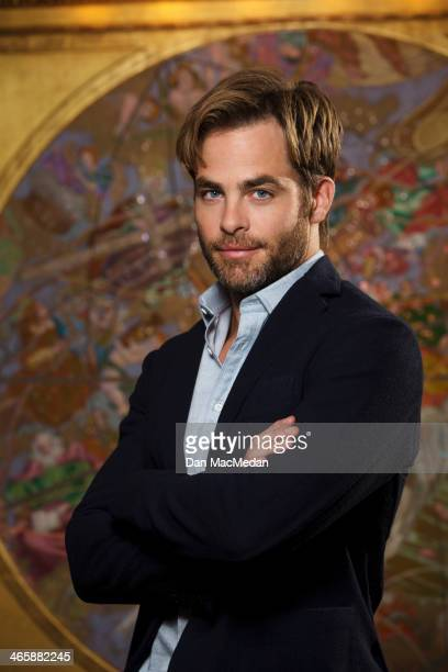 Actor Chris Pine is photographed for USA Today on January 10 2014 in Beverly Hills California PUBLISHED IMAGE