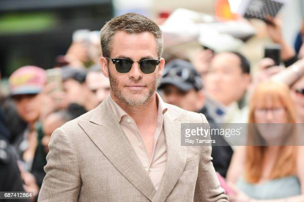 Actor Chris Pine leaves the 'AOL Build' taping at the AOL Studios on May 23 2017 in New York City