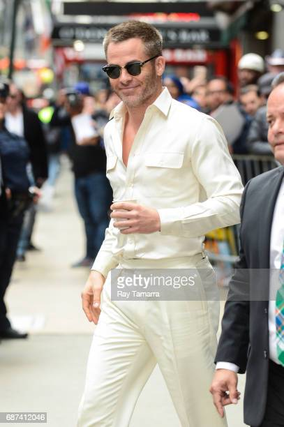Actor Chris Pine leaves the 'Good Morning America' taping at the ABC Times Square Studios on May 23 2017 in New York City