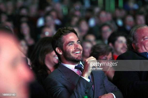 Actor Chris Pine recipient of the Male Star of the Year Award attends the CinemaCon 2013 Final Night Awards at Caesars Palace during CinemaCon the...