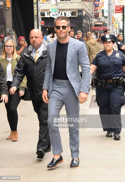 Actor Chris Pineis seen waling in to 'Good Morning America' on May 23 2017 in New York City
