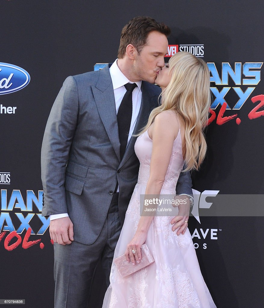 Actor Chris Pratt and actress Anna Faris attend the premiere of 'Guardians of the Galaxy Vol. 2' at Dolby Theatre on April 19, 2017 in Hollywood, California.