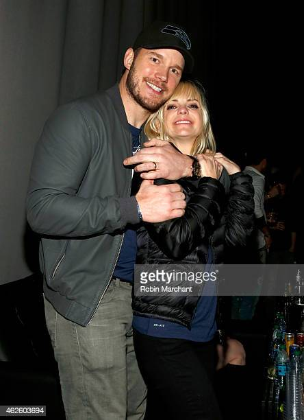 Actor Chris Pratt and actress Anna Faris celebrate bold moments with Tabasco at the MAXIM Party on January 31 2015 in Phoenix Arizona