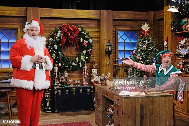 Actor Chris Pratt and host Jimmy Fallon peform on 'The Tonight Show Starring Jimmy Fallon' at Rockefeller Center on December 6 2016 in New York City