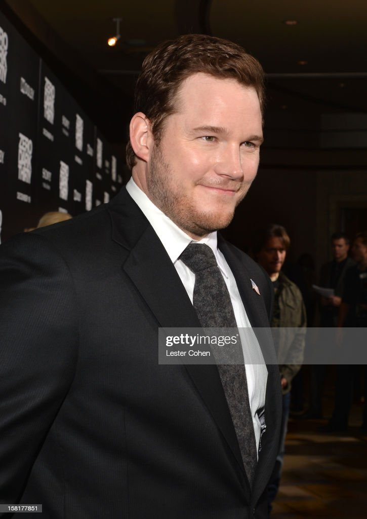 Actor <a gi-track='captionPersonalityLinkClicked' href=/galleries/search?phrase=Chris+Pratt+-+Actor&family=editorial&specificpeople=239084 ng-click='$event.stopPropagation()'>Chris Pratt</a> attends the 'Zero Dark Thirty' Los Angeles Premiere at Dolby Theatre on December 10, 2012 in Hollywood, California.