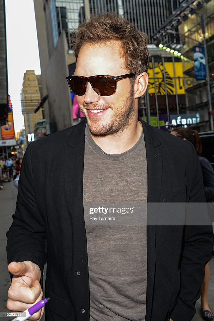 Actor Chris Pratt enters the 'Good Morning America' taping at the ABC Times Square Studios on July 30, 2014 in New York City.