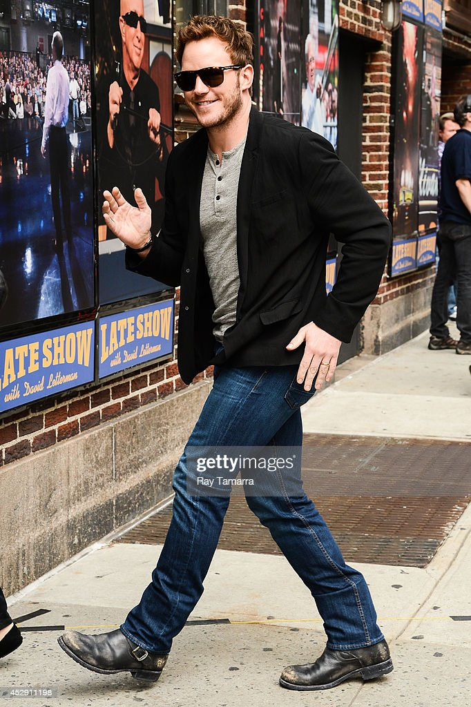 Actor Chris Pratt enters the 'Late Show With David Letterman' taping at the Ed Sullivan Theater on July 29, 2014 in New York City.