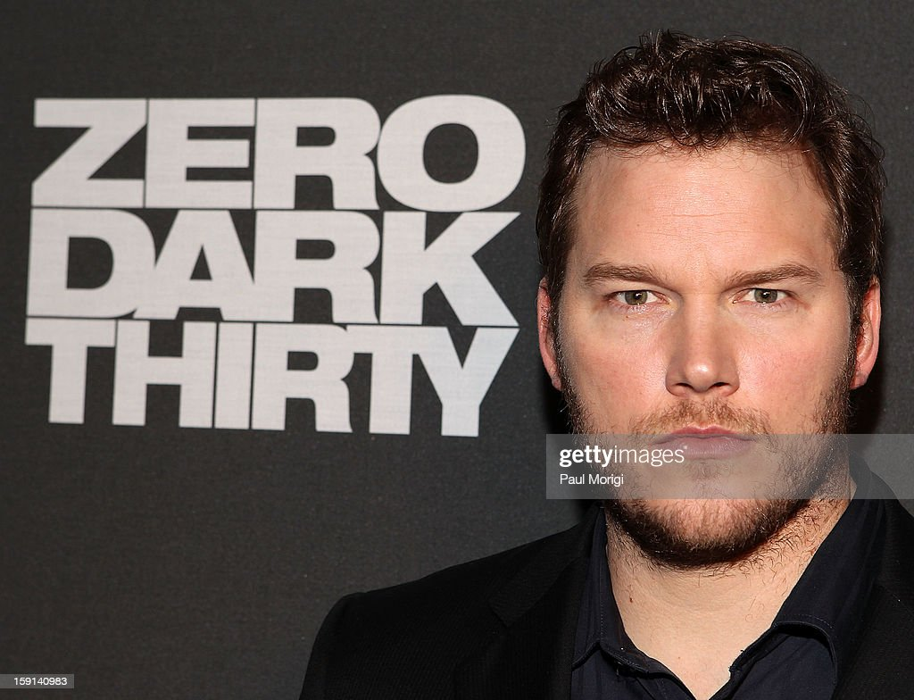 Actor <a gi-track='captionPersonalityLinkClicked' href=/galleries/search?phrase=Chris+Pratt+-+Actor&family=editorial&specificpeople=239084 ng-click='$event.stopPropagation()'>Chris Pratt</a> poses for a photo on the red carpet at the 'Zero Dark Thirty' Washington, DC Premiere at The Newseum on January 8, 2013 in Washington, DC.