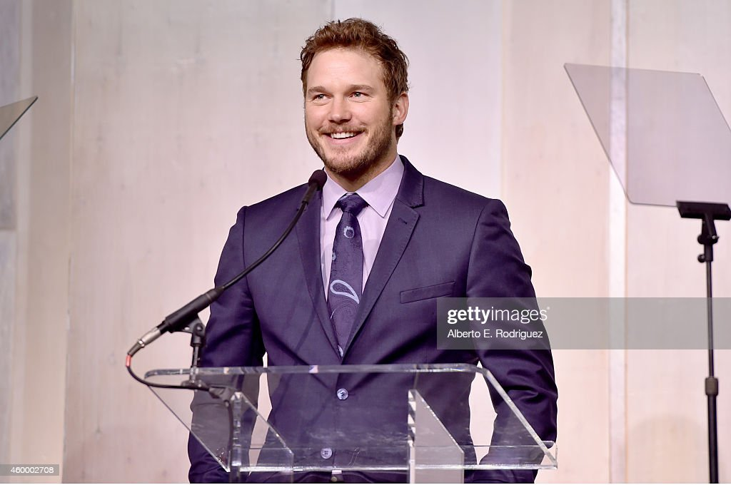 Actor Chris Pratt speaks onstage at the March of Dimes' Celebration of Babies A Hollywood Luncheon at the Beverly Wilshire Hotel on December 5 2014...