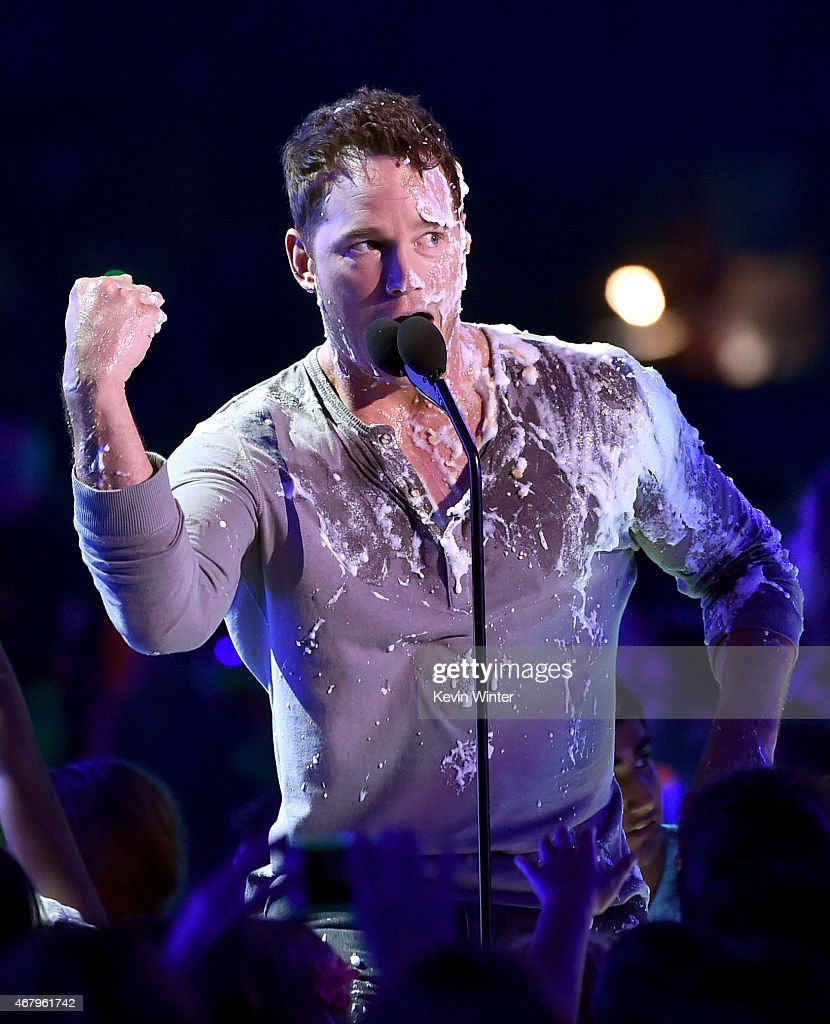 Actor Chris Pratt speaks onstage during Nickelodeon's 28th Annual Kids' Choice Awards held at The Forum on March 28 2015 in Inglewood California