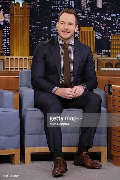 Actor Chris Pratt Visits 'The Tonight Show Starring Jimmy Fallon' at Rockefeller Center on December 6 2016 in New York City