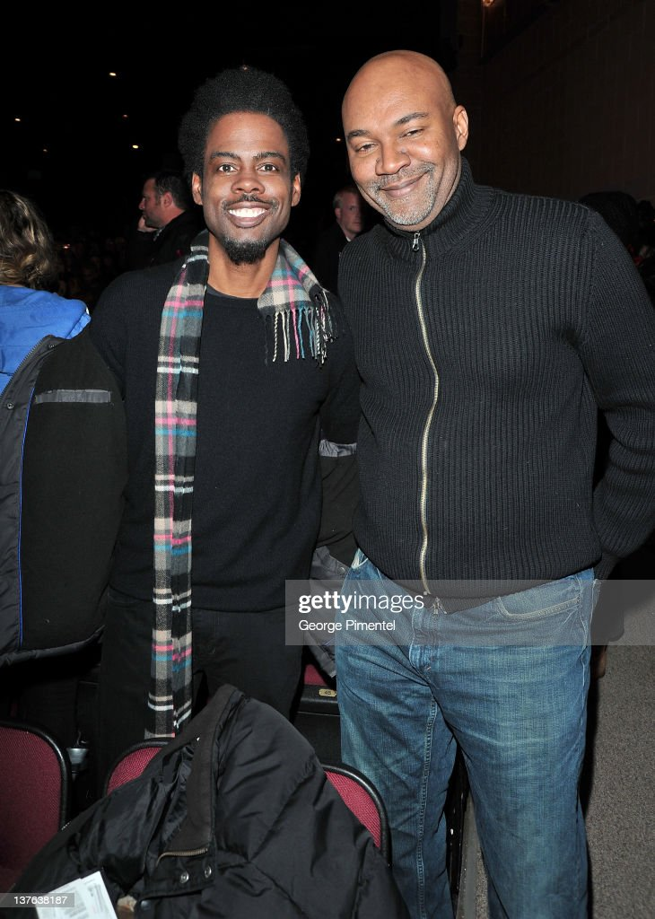 Actor Chris Rock and filmmaker Nelson George attend the '2 Days in New York' premiere during the 2012 Sundance Film Festival held at Eccles Center...
