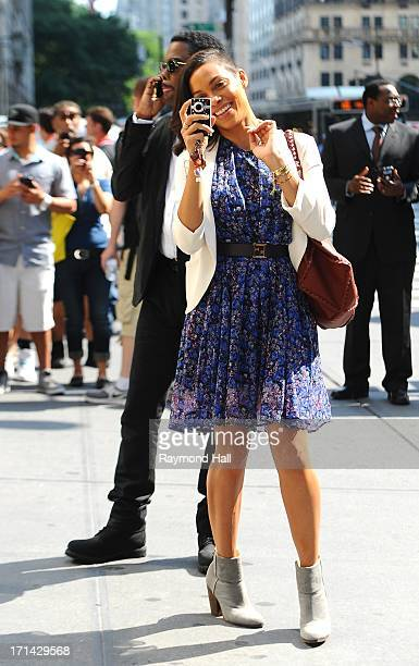 Actor Chris Rock and Rosario Dawson are seen on the set of 'The Untitled Chris Rock Project' on June 24 2013 in New York City