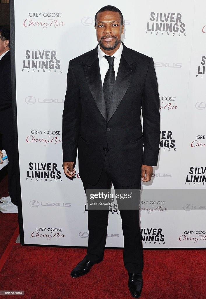 Actor <a gi-track='captionPersonalityLinkClicked' href=/galleries/search?phrase=Chris+Rock&family=editorial&specificpeople=202982 ng-click='$event.stopPropagation()'>Chris Rock</a> arrives at the Los Angeles Premiere 'Silver Linings Playbook' at the Academy of Motion Picture Arts and Sciences on November 19, 2012 in Beverly Hills, California.