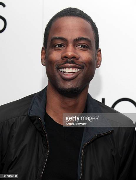 Actor Chris Rock attends a special screening of JeanMichel Basquiat The Radiant Child presented by NOWNESS Arthouse Films at MOMA on April 27 2010 in...