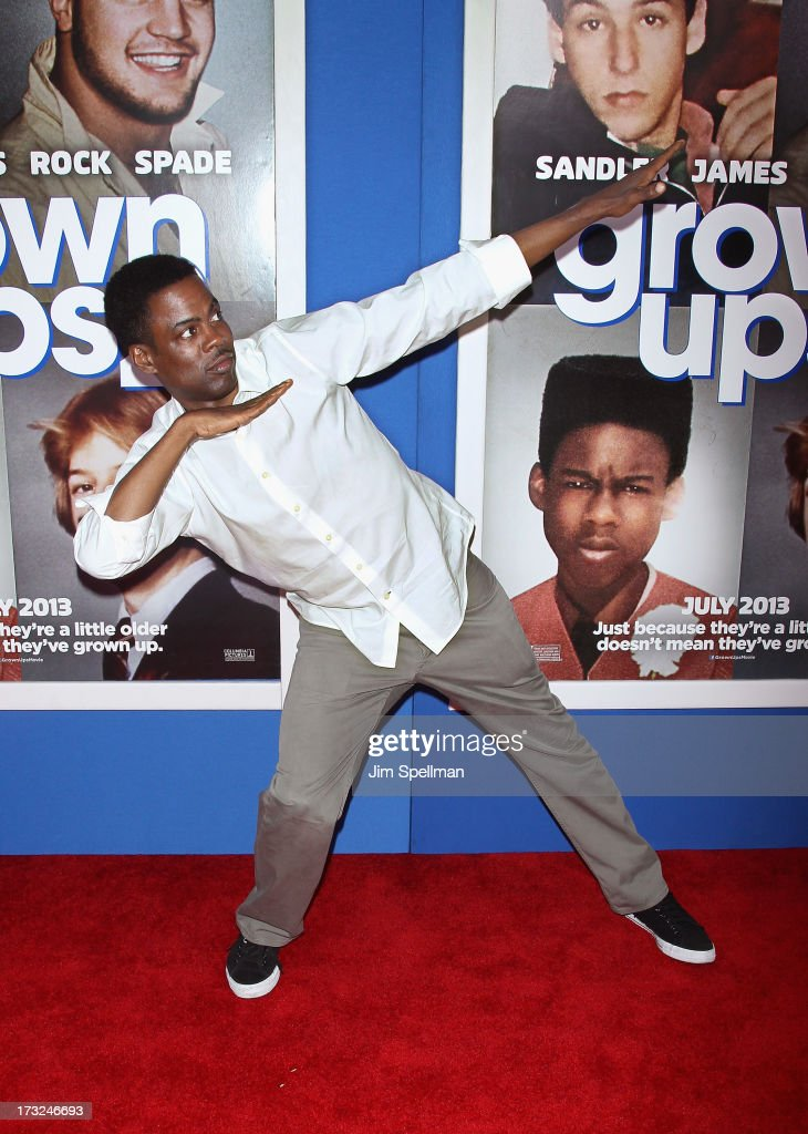 Actor <a gi-track='captionPersonalityLinkClicked' href=/galleries/search?phrase=Chris+Rock&family=editorial&specificpeople=202982 ng-click='$event.stopPropagation()'>Chris Rock</a> attends the 'Grown Ups 2' New York Premiere at AMC Lincoln Square Theater on July 10, 2013 in New York City.