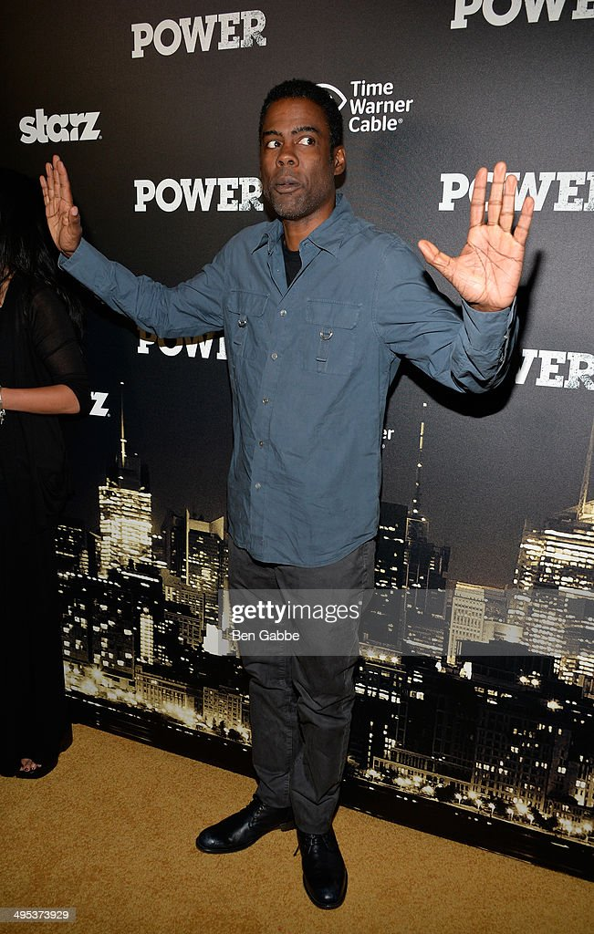 Actor Chris Rock attends the 'Power' premiere on June 2, 2014 in New York City.