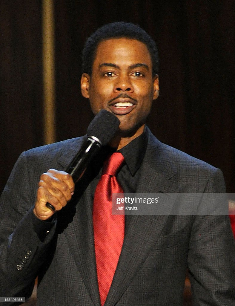 Actor Chris Rock onstage at Spike TV's 'Eddie Murphy: One Night Only' at the Saban Theatre on November 3, 2012 in Beverly Hills, California.